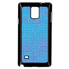 Textured Blue & Purple Abstract Samsung Galaxy Note 4 Case (Black)