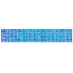 Textured Blue & Purple Abstract Flano Scarf (large)