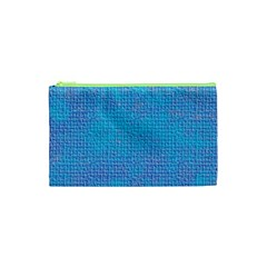 Textured Blue & Purple Abstract Cosmetic Bag (XS)