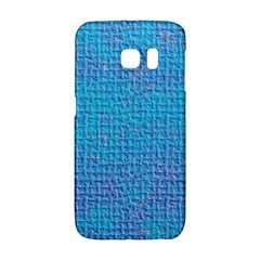 Textured Blue & Purple Abstract Samsung Galaxy S6 Edge Hardshell Case