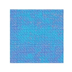 Textured Blue & Purple Abstract Small Satin Scarf (square)