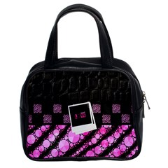 Pink Tiger Bling Classic Handbag (two Sides)