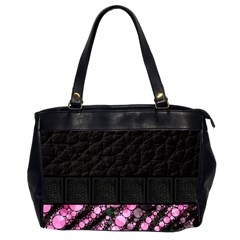 Pink Tiger Bling Oversize Office Handbag (two Sides)