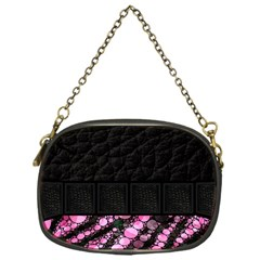 Pink Tiger Bling Chain Purse (one Side)