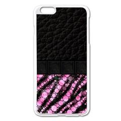 Pink Tiger Bling Apple iPhone 6 Plus Enamel White Case