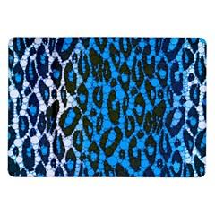 Florescent Blue Cheetah  Samsung Galaxy Tab 10 1  P7500 Flip Case