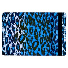 Florescent Blue Cheetah  Apple Ipad Air Flip Case