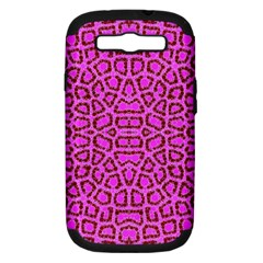 Florescent Pink Animal Print  Samsung Galaxy S Iii Hardshell Case (pc+silicone)