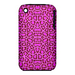 Florescent Pink Animal Print  Apple iPhone 3G/3GS Hardshell Case (PC+Silicone)