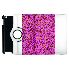 Florescent Pink Animal Print  Apple iPad 2 Flip 360 Case