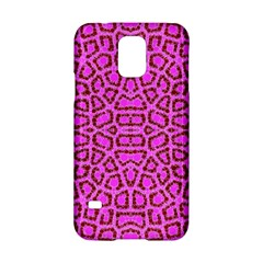 Florescent Pink Animal Print  Samsung Galaxy S5 Hardshell Case