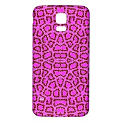 Florescent Pink Animal Print  Samsung Galaxy S5 Back Case (White)