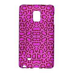 Florescent Pink Animal Print  Samsung Galaxy Note Edge Hardshell Case