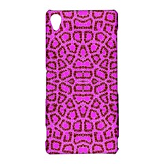 Florescent Pink Animal Print  Sony Xperia Z3 Hardshell Case