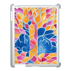 Yellow Blue Pink Abstract  Apple Ipad 3/4 Case (white)