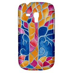 Yellow Blue Pink Abstract  Samsung Galaxy S3 Mini I8190 Hardshell Case