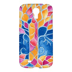 Yellow Blue Pink Abstract  Samsung Galaxy S4 I9500/i9505 Hardshell Case