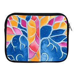 Yellow Blue Pink Abstract  Apple Ipad Zippered Sleeve