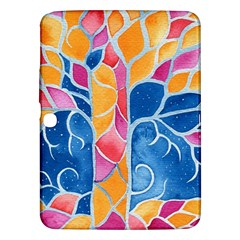 Yellow Blue Pink Abstract  Samsung Galaxy Tab 3 (10 1 ) P5200 Hardshell Case