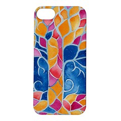 Yellow Blue Pink Abstract  Apple Iphone 5s Hardshell Case