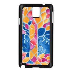 Yellow Blue Pink Abstract  Samsung Galaxy Note 3 N9005 Case (black)