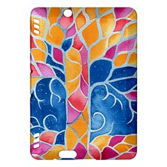 Yellow Blue Pink Abstract  Kindle Fire HDX Hardshell Case