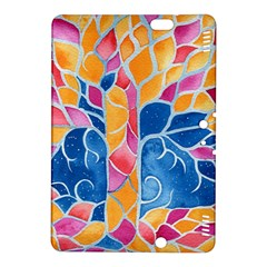 Yellow Blue Pink Abstract  Kindle Fire Hdx 8 9  Hardshell Case