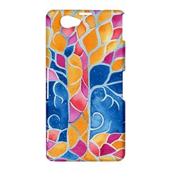 Yellow Blue Pink Abstract  Sony Xperia Z1 Compact Hardshell Case