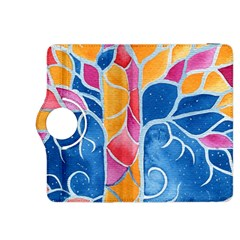 Yellow Blue Pink Abstract  Kindle Fire HDX 8.9  Flip 360 Case