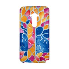 Yellow Blue Pink Abstract  LG G Flex D958 Hardshell Case