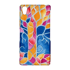 Yellow Blue Pink Abstract  Sony Xperia Z2 Hardshell Case