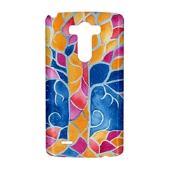 Yellow Blue Pink Abstract  LG G3 Hardshell Case