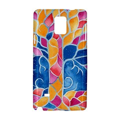 Yellow Blue Pink Abstract  Samsung Galaxy Note 4 Hardshell Case