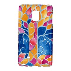 Yellow Blue Pink Abstract  Samsung Galaxy Note Edge Hardshell Case