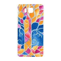Yellow Blue Pink Abstract  Samsung Galaxy Alpha Hardshell Back Case