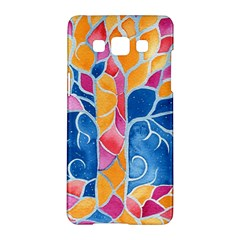 Yellow Blue Pink Abstract  Samsung Galaxy A5 Hardshell Case