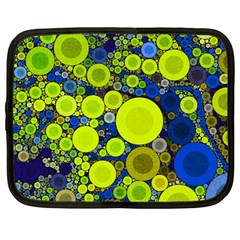 Polka Dot Retro Pattern Netbook Sleeve (large)