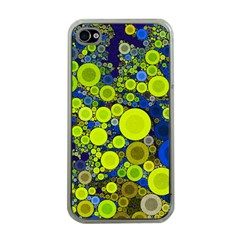 Polka Dot Retro Pattern Apple Iphone 4 Case (clear)