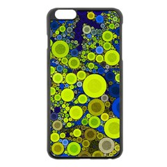Polka Dot Retro Pattern Apple iPhone 6 Plus Black Enamel Case