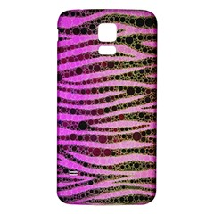 Hot Pink Black Tiger Pattern  Samsung Galaxy S5 Back Case (White)