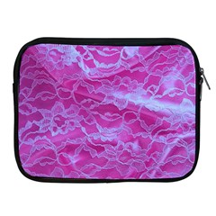 Pink Lace  Apple Ipad Zippered Sleeve