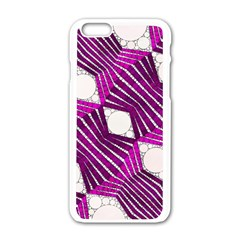 Crazy Beautiful Abstract  Apple Iphone 6 White Enamel Case