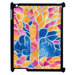 Yellow Blue Pink Abstract  Apple Ipad 2 Case (black)