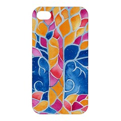 Yellow Blue Pink Abstract  Apple Iphone 4/4s Hardshell Case