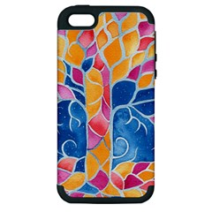 Yellow Blue Pink Abstract  Apple Iphone 5 Hardshell Case (pc+silicone)
