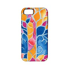 Yellow Blue Pink Abstract  Apple Iphone 5 Classic Hardshell Case (pc+silicone)
