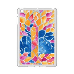 Yellow Blue Pink Abstract  Apple Ipad Mini 2 Case (white)