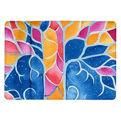 Yellow Blue Pink Abstract  Samsung Galaxy Tab 10.1  P7500 Flip Case