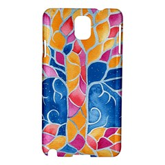 Yellow Blue Pink Abstract  Samsung Galaxy Note 3 N9005 Hardshell Case
