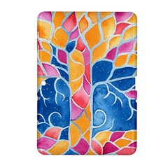 Yellow Blue Pink Abstract  Samsung Galaxy Tab 2 (10.1 ) P5100 Hardshell Case